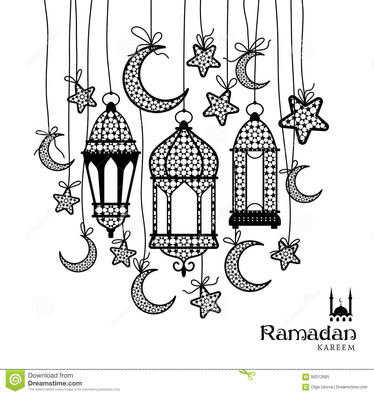 Ramadan Kareem Celebration Greeting Card Stock Photo