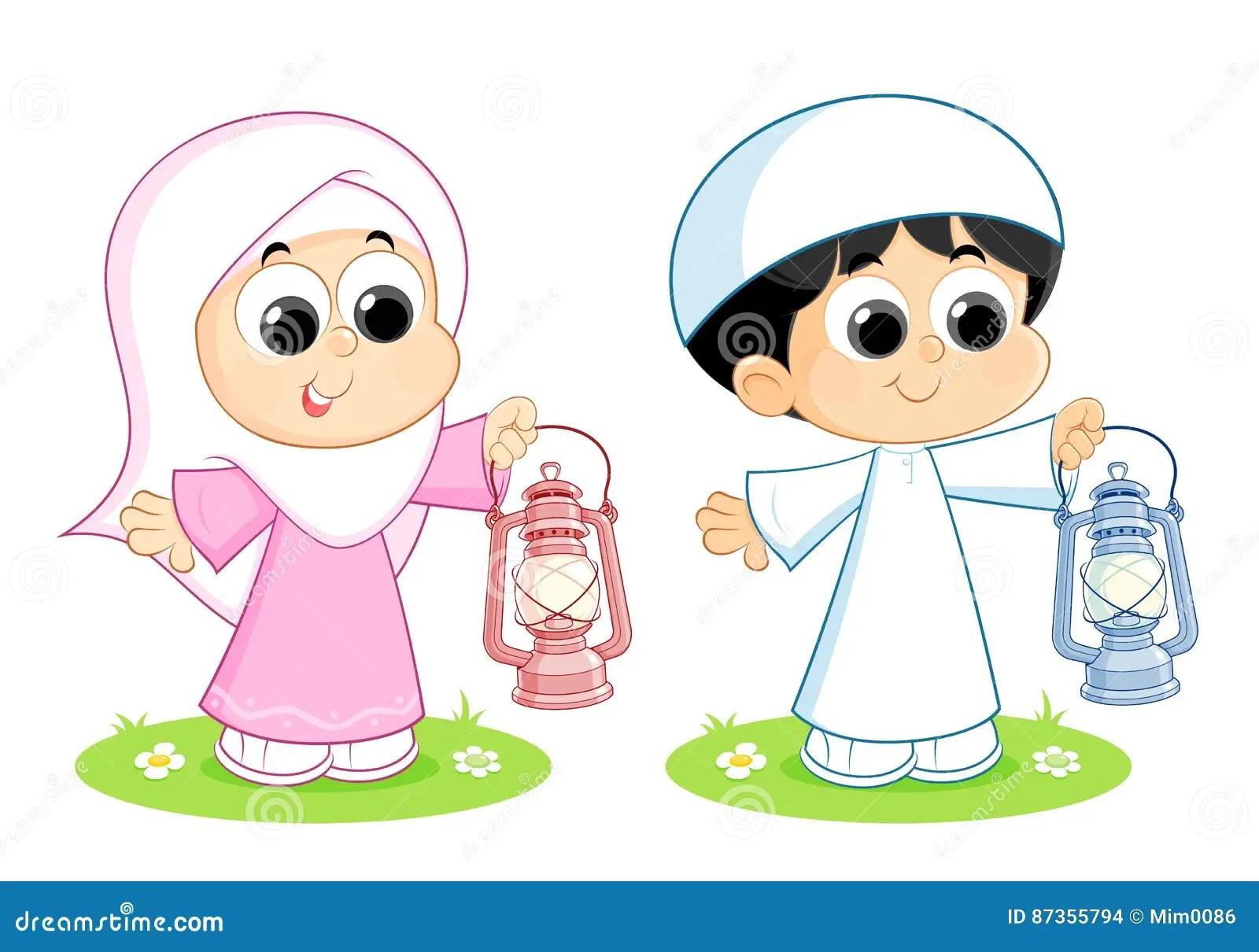 Ramadan Mubarak Stock Vector Illustration Of Child