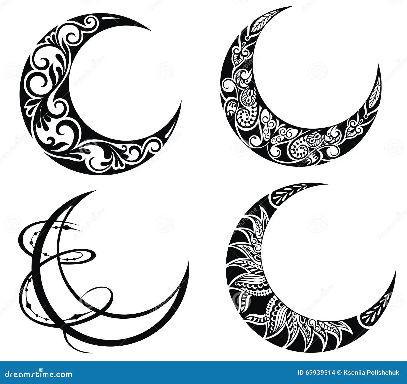 Ramadan Symbols Of Moons Stock Vector Illustration Of