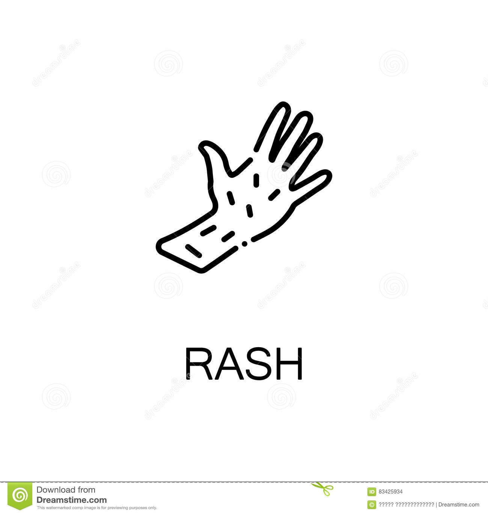 rash flat icon cartoon vector