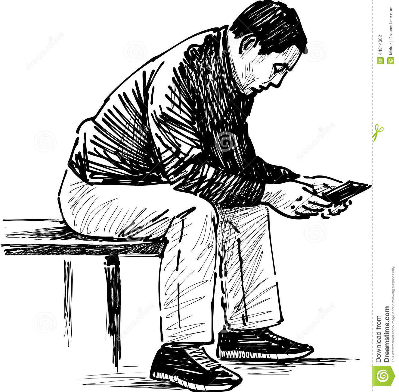 Reading Man Stock Photo Image Of Book Relaxing