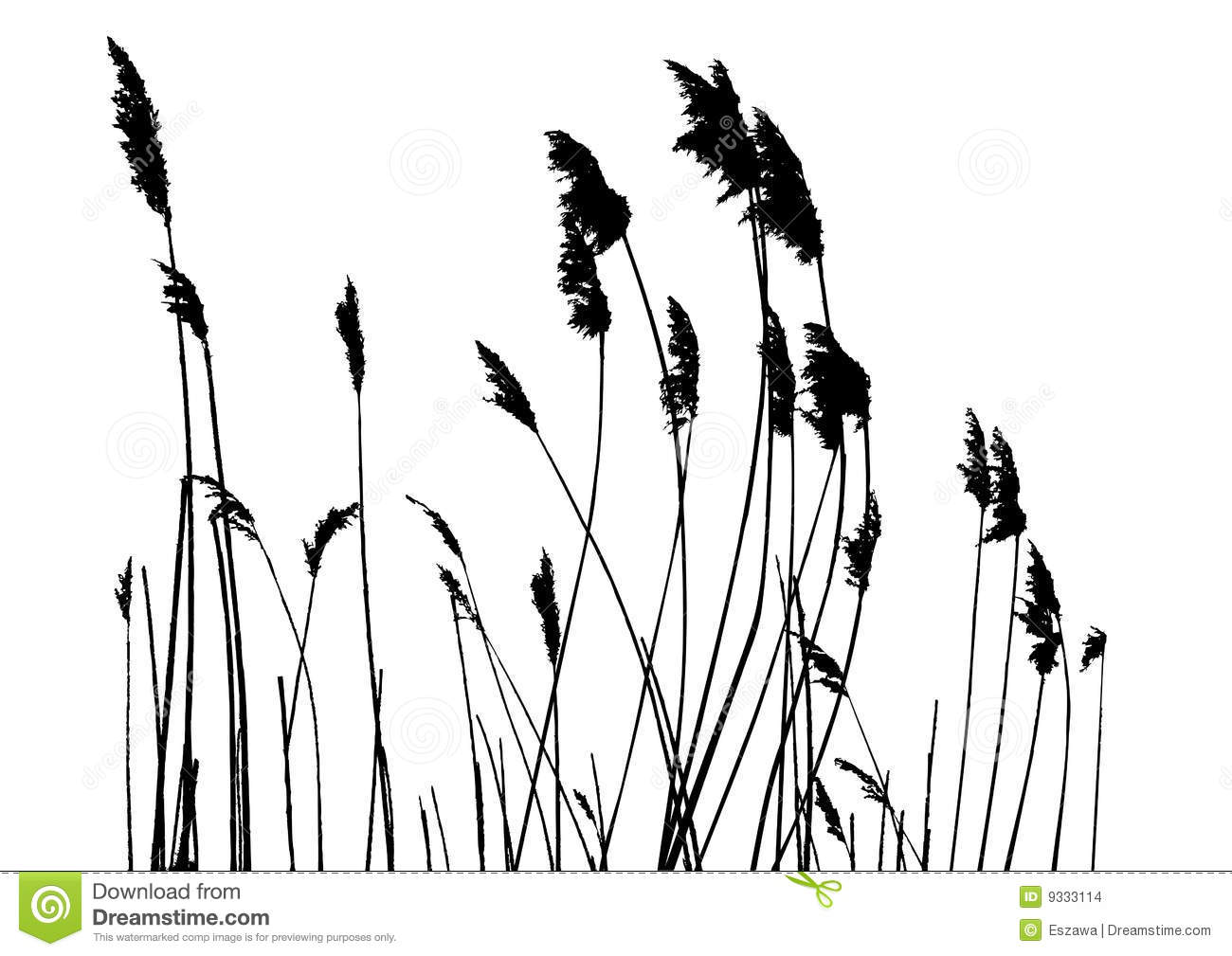 Real Grass Silhouette