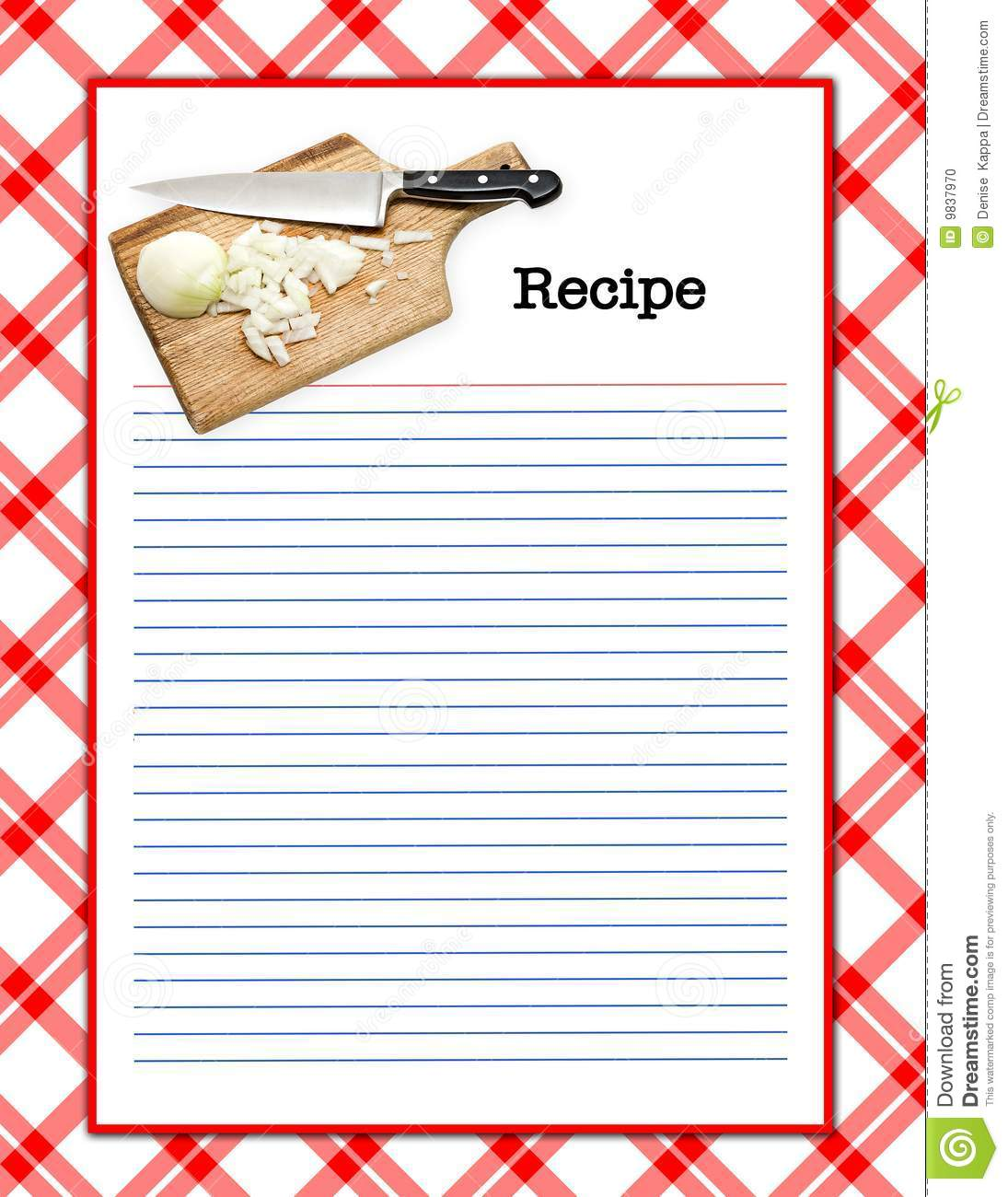 Recipe Layout Stock Illustration Illustration Of