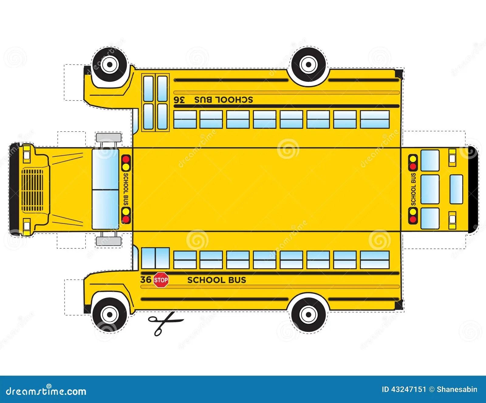 Recorte Del Autobus Escolar Foto De Archivo