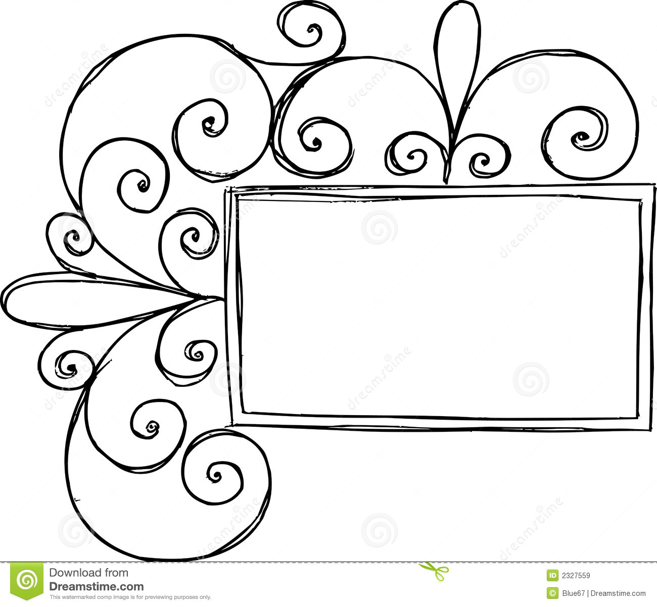 Rectangular Frame With Swirl Royalty Free Stock Images