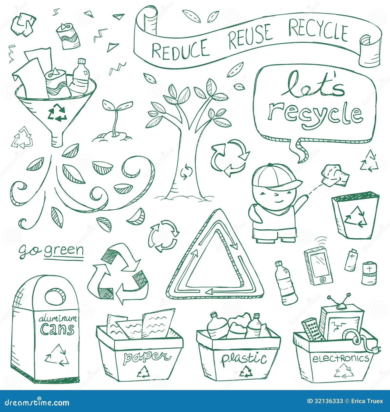 Recycling Doodles Stock Photos Image 32136333