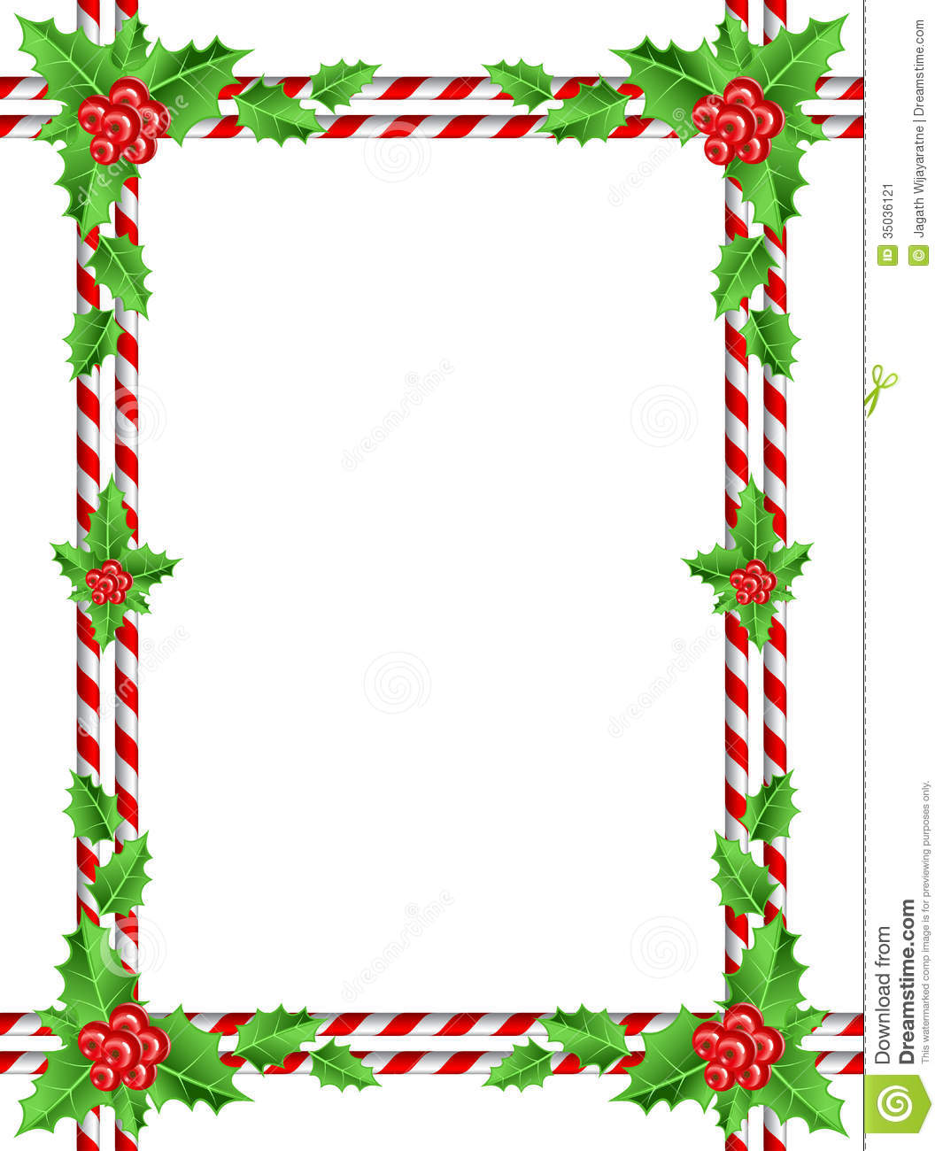 Red Berries Christmas Border Stock Vector