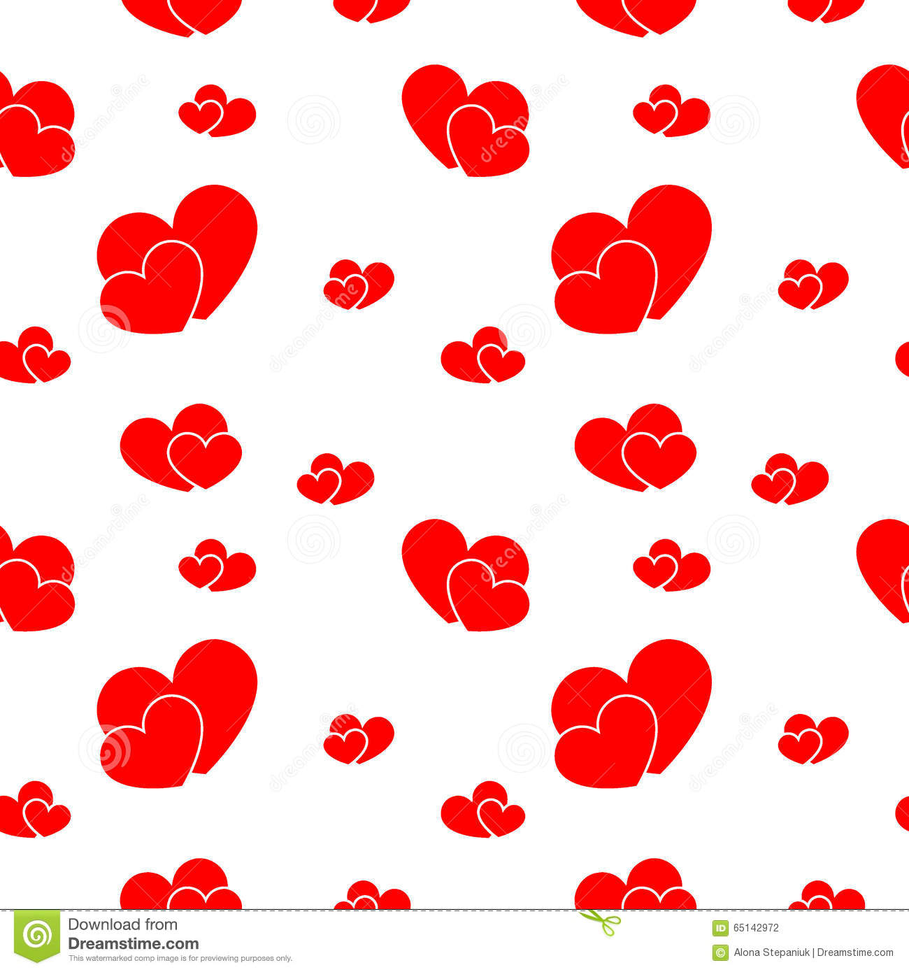 Red Big And Small Hearts Stock Vector Illustration Of