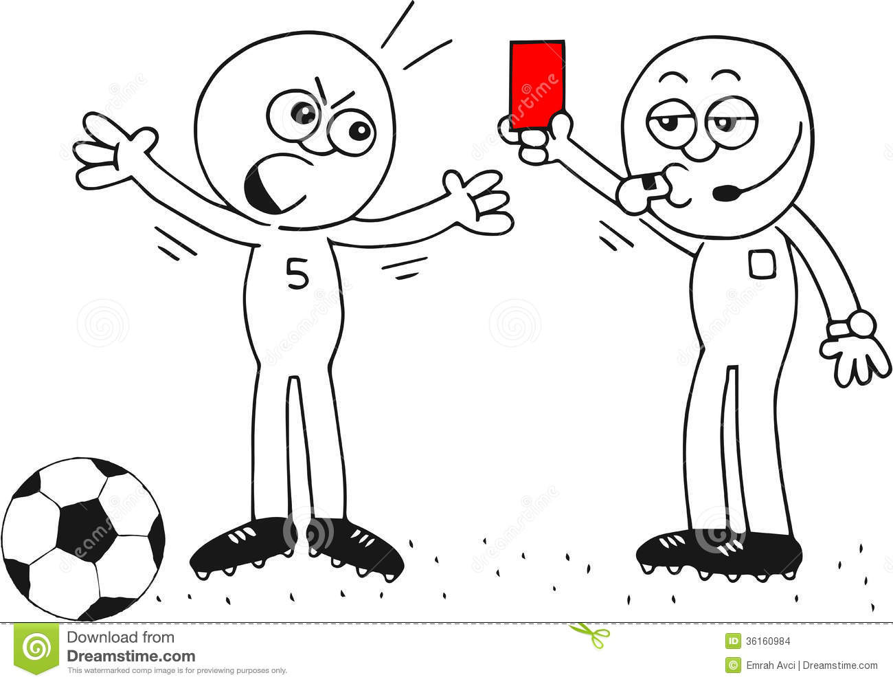 Red Card Stock Images