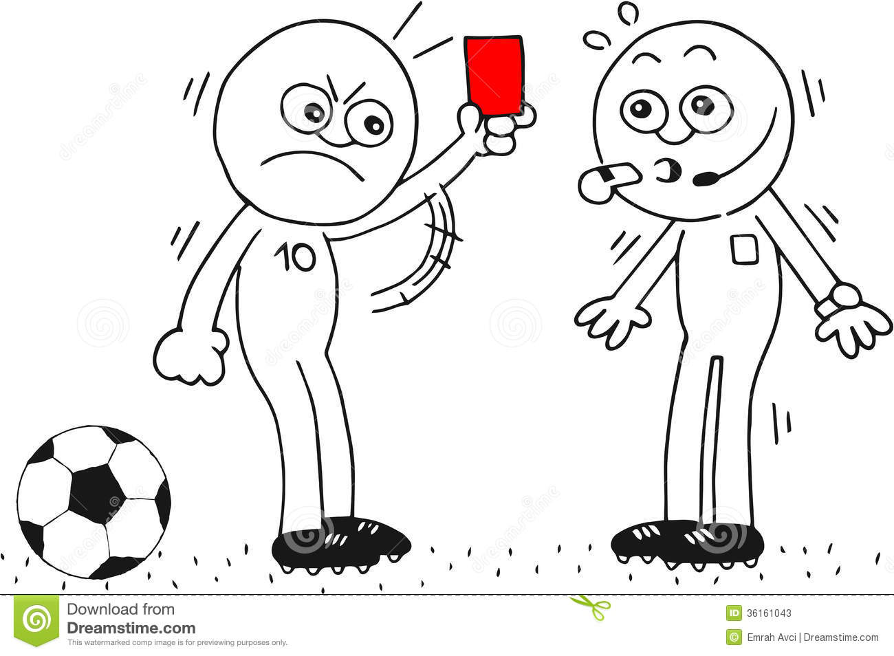 Red Card To Referee Stock Photos