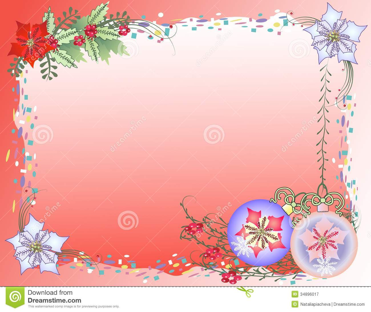 Red Christmas Background With Confetti Royalty Free Stock