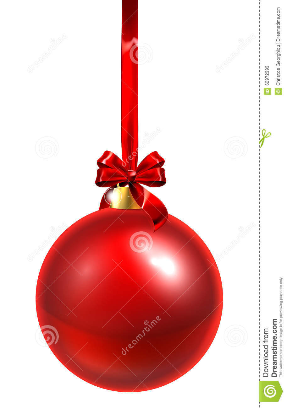 Red Christmas Bauble Stock Vector Image 62972393