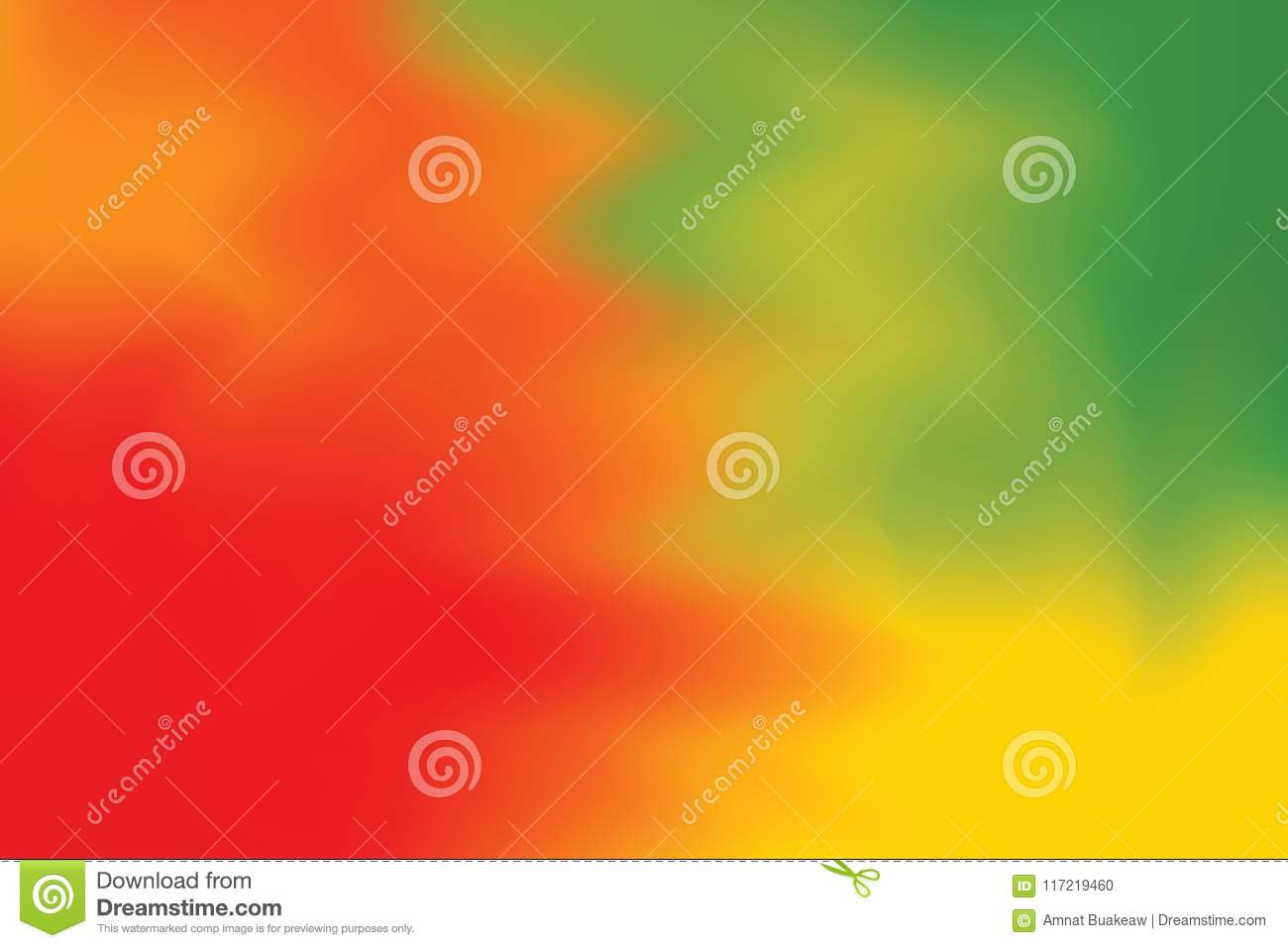 Red Green Yellow Soft Color Mixed Background Painting Art