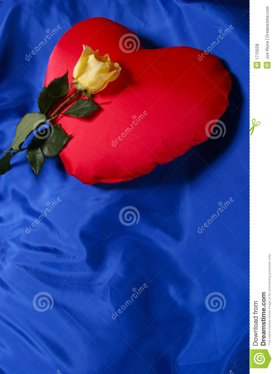 red heart shaped pillow stock photo image of flower commitment 1715558