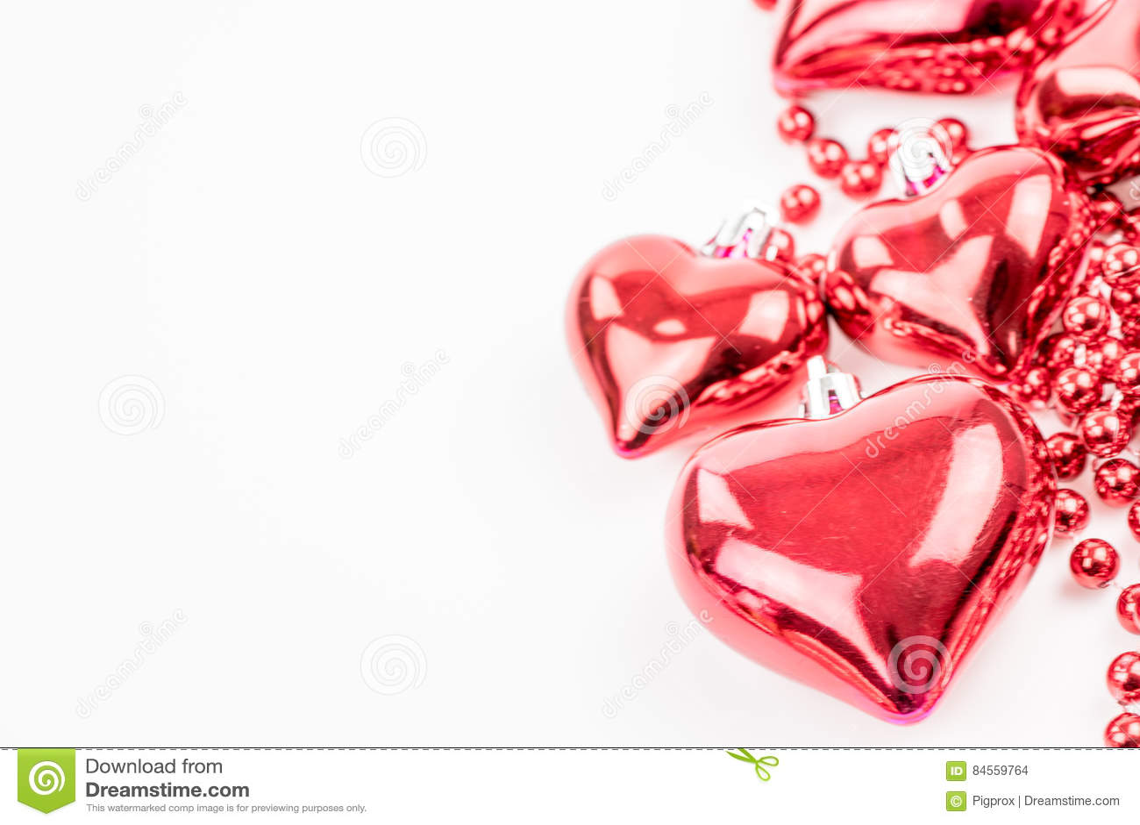 Red Heart Shapes Vector Illustration
