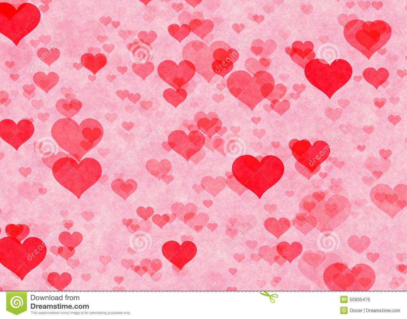 Red Hearts Backgrounds Love Textures Stock Illustration