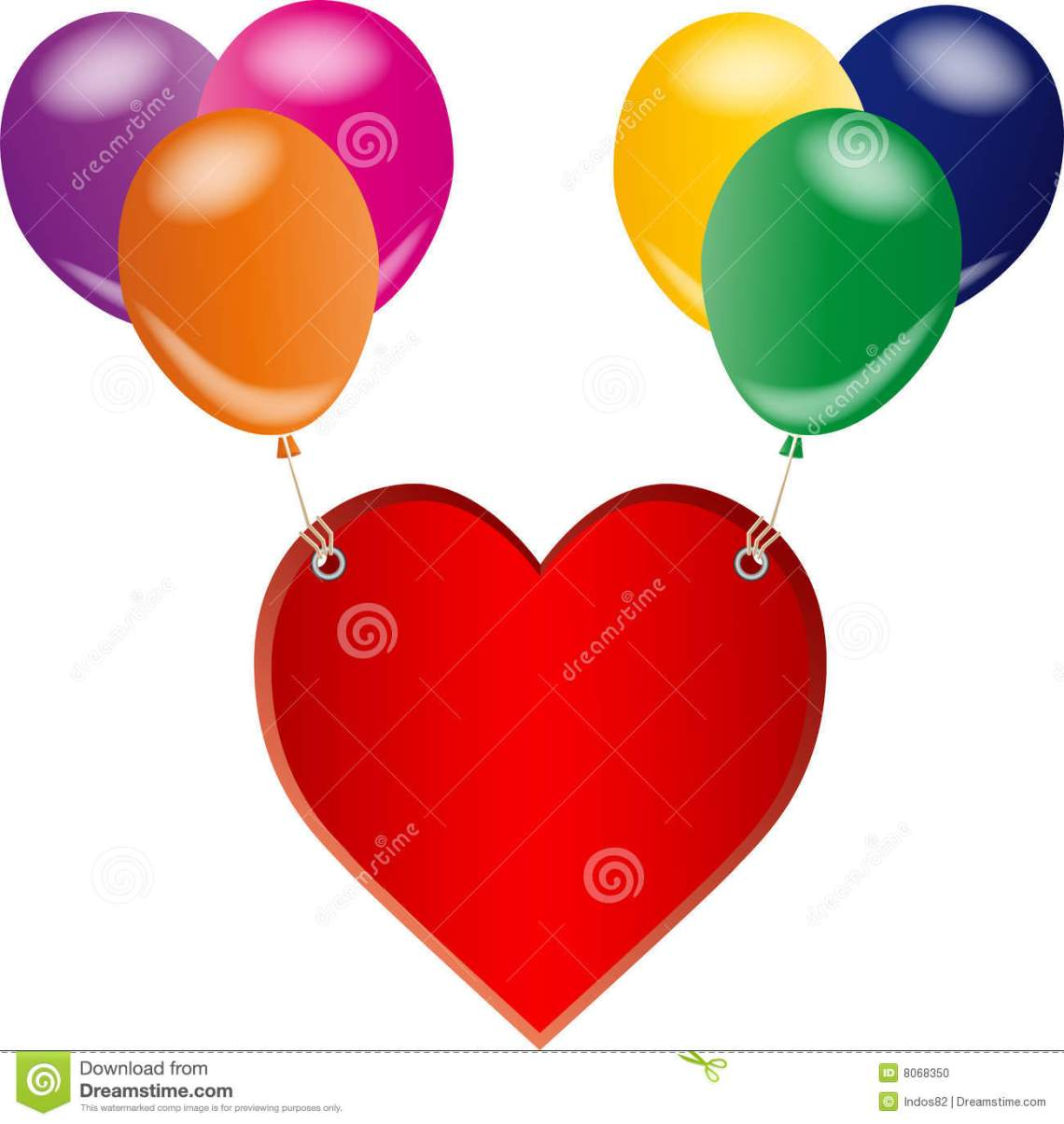 Download Red Love Heart And Balloons Stock Vector - Illustration of ...