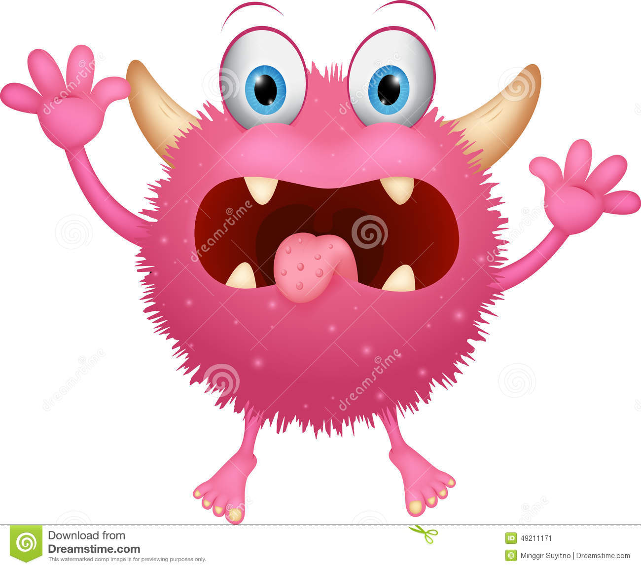 Red Monster Cartoon Stock Vector Image 49211171
