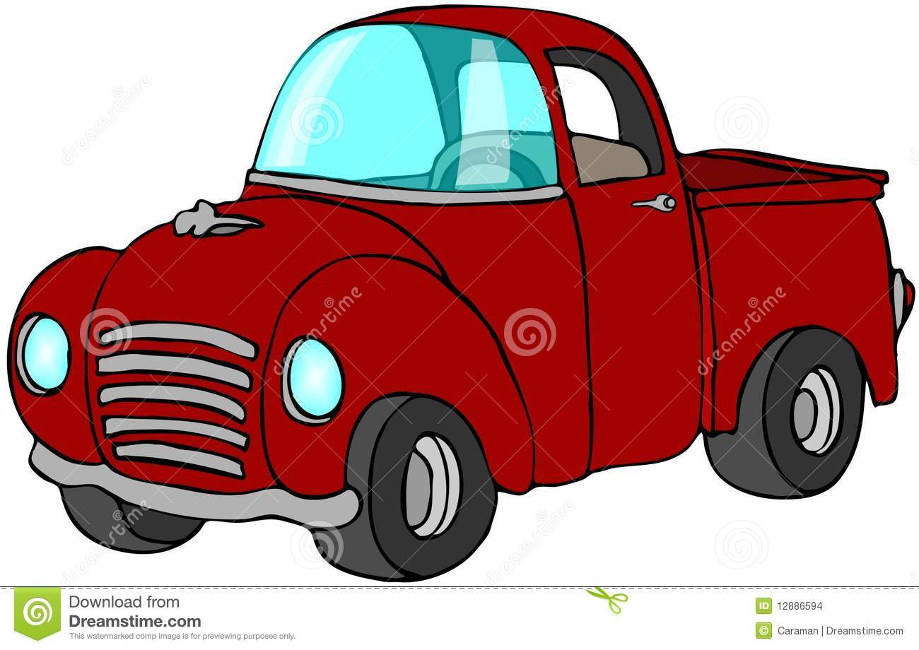 Red Pickup Truck Stock Images Image 12886594