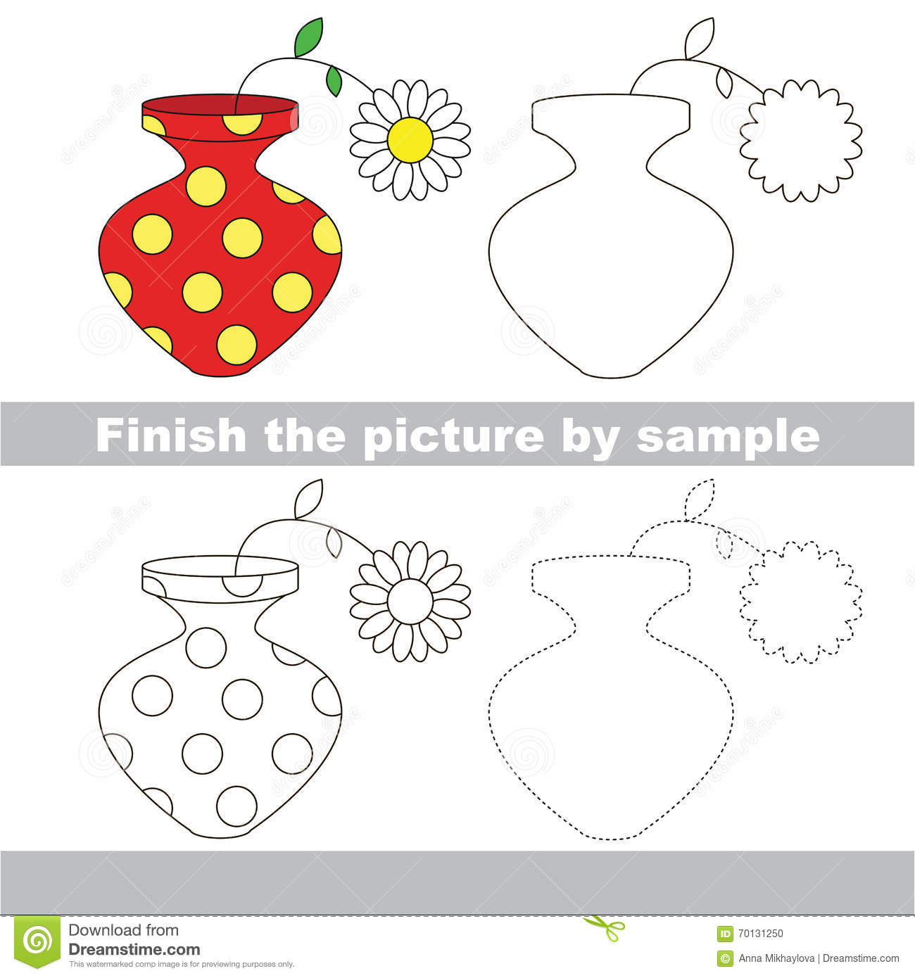 Vase Drawing Tutorial Vector Illustration