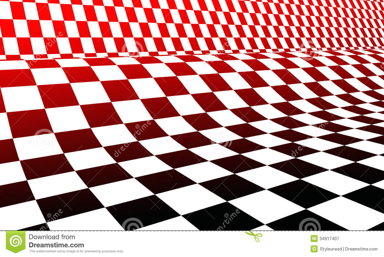 Red White And Black Checkerboard Royalty Free Stock