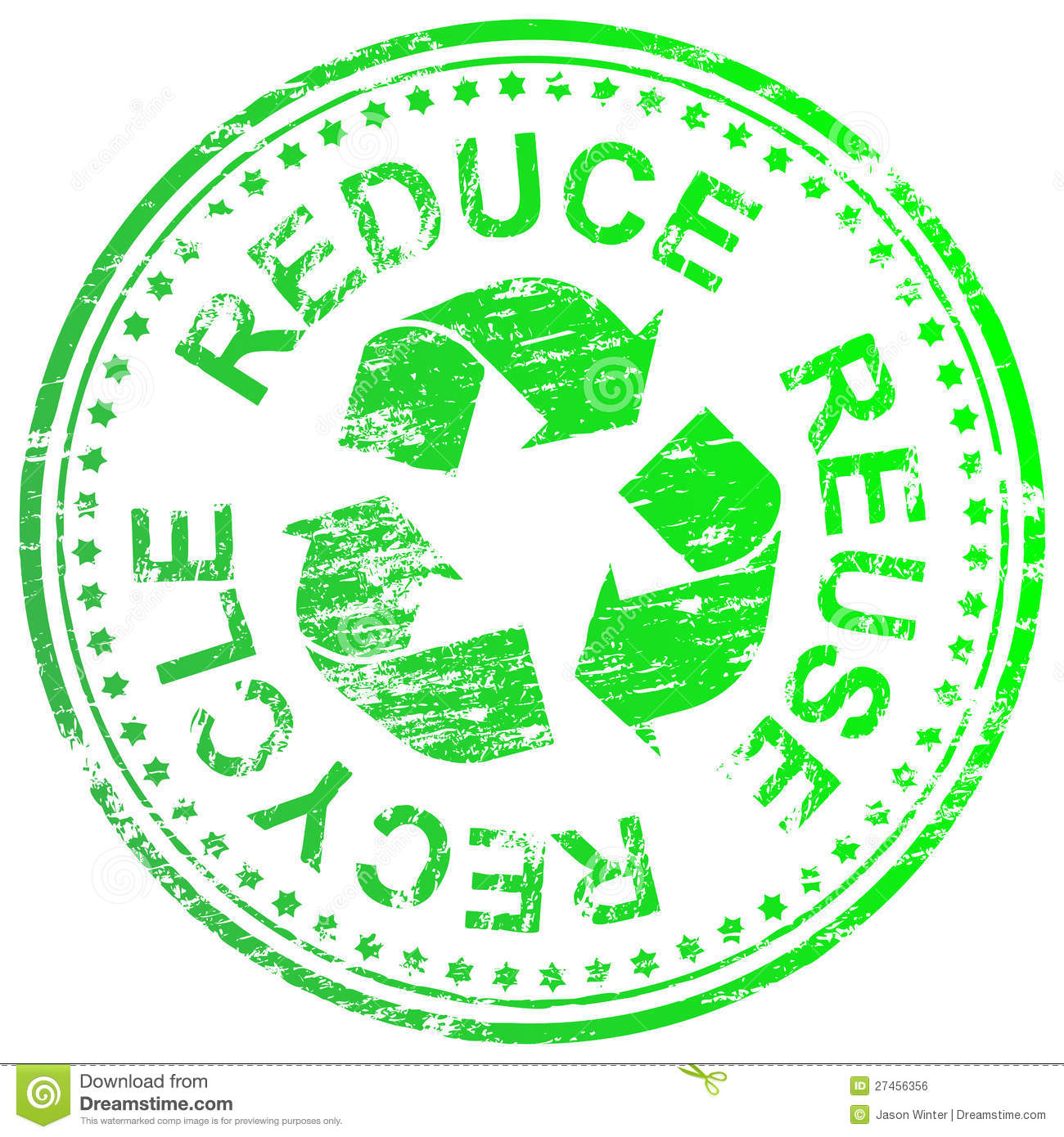 Reduce Reuse Recycle Stamp Stock Vector Illustration Of