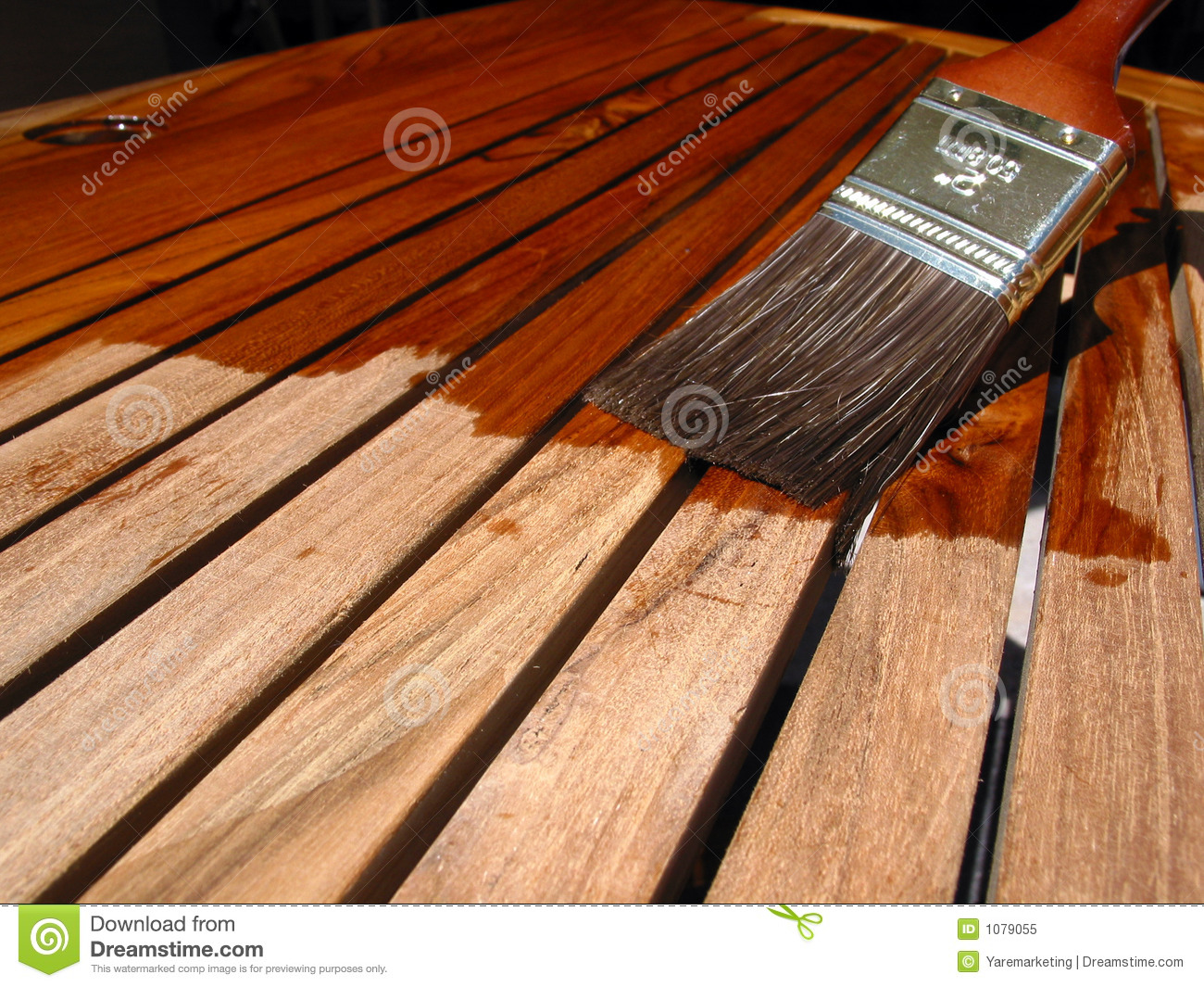 Refinishing Teak Stock Image Image Of Tropical