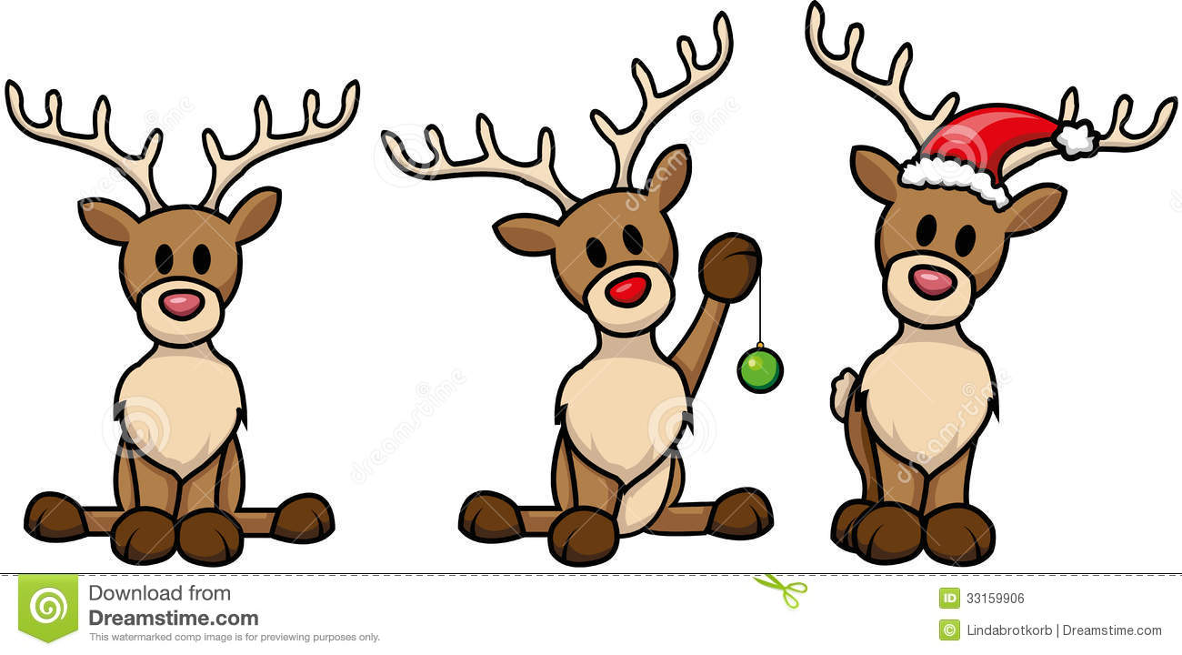 reindeer set royalty free stock image image 33159906