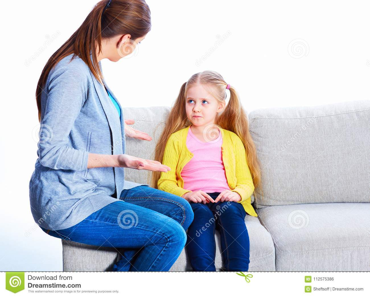 Relationship Of Mother And Daughter Stock Photo
