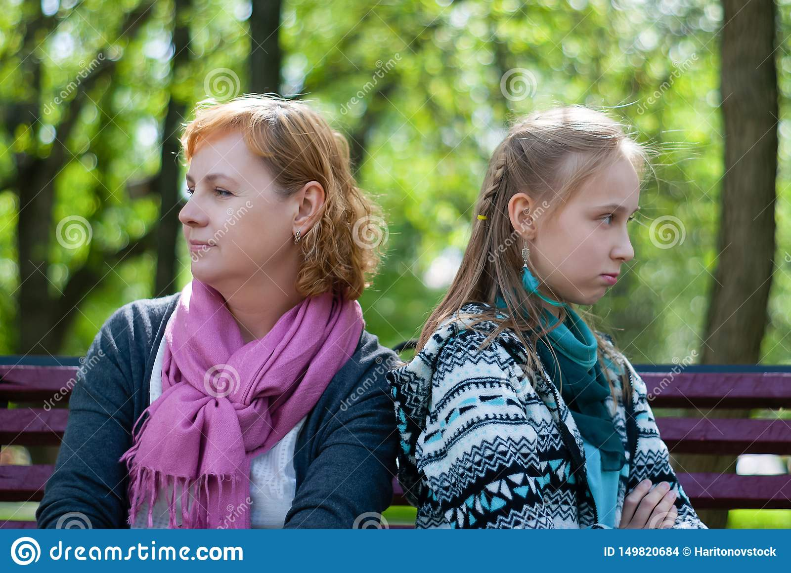 Relationship Problems Of Children And Parents Stock Photo