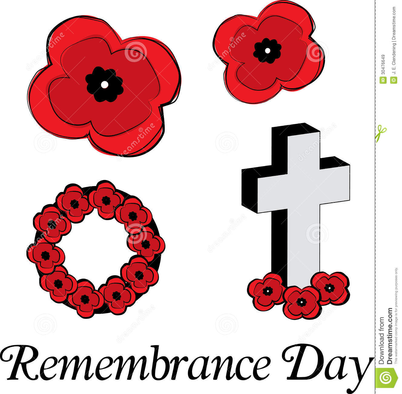 Remembrance Day Poppies Royalty Free Stock Images