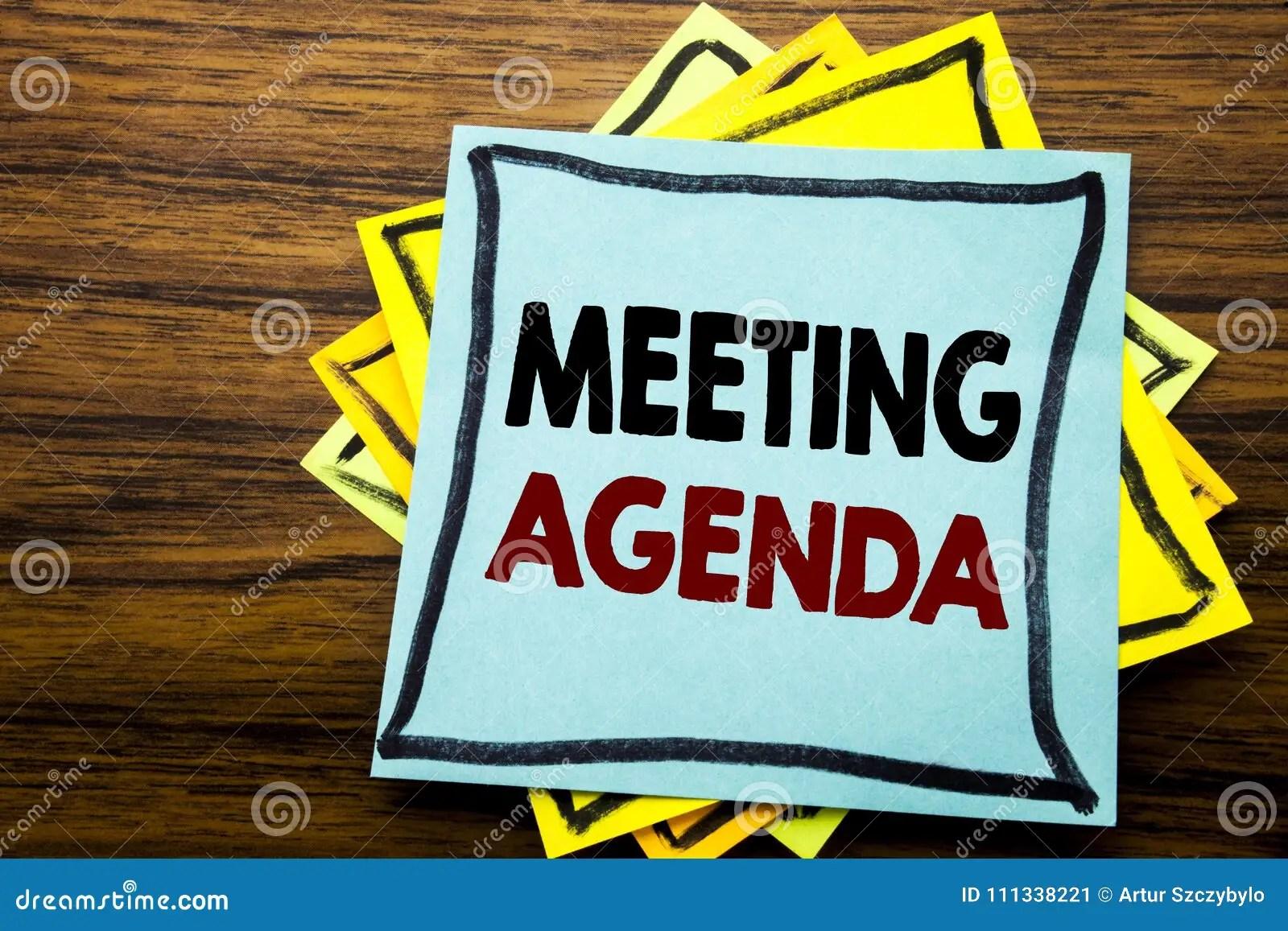 remettez l inspiration de legende des textes d ecriture montrant l ordre du jour de reunion