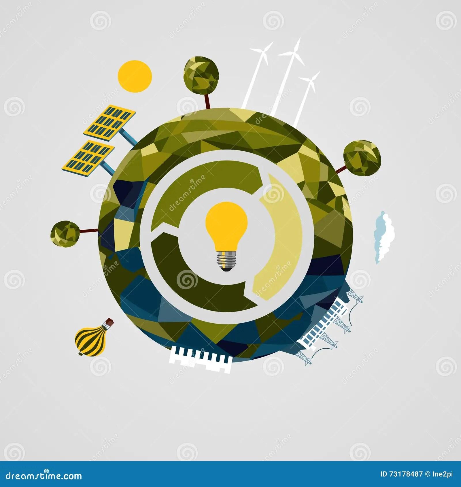 Renewable Power Concept Alternative Energy Sources Sign