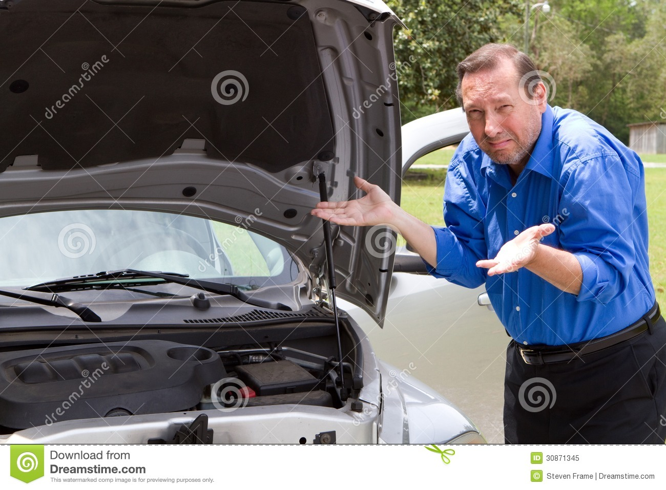 Repair Broken Car Stock Image Image Of Broken