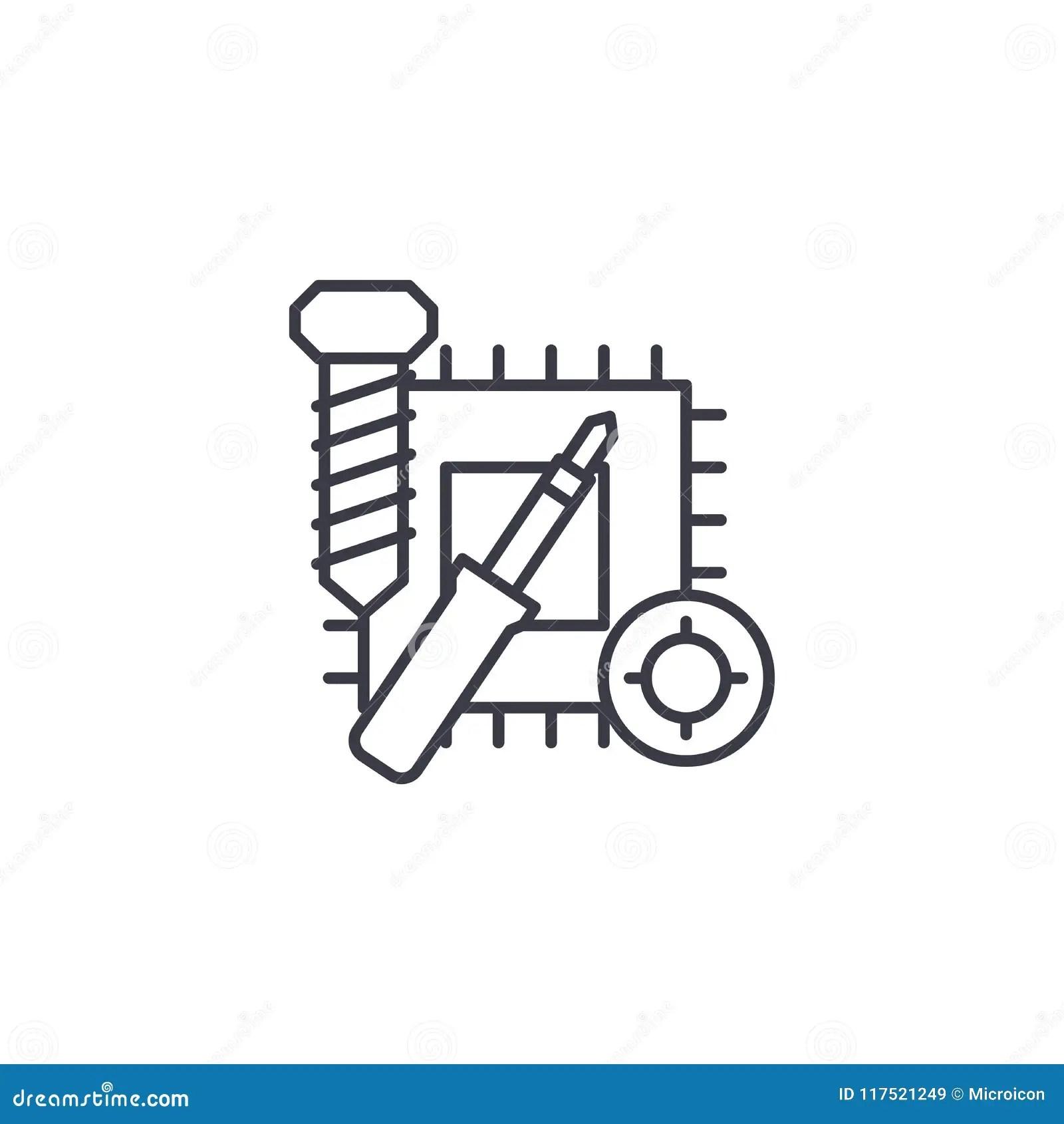 Soldering Iron Icon Vector Illustration