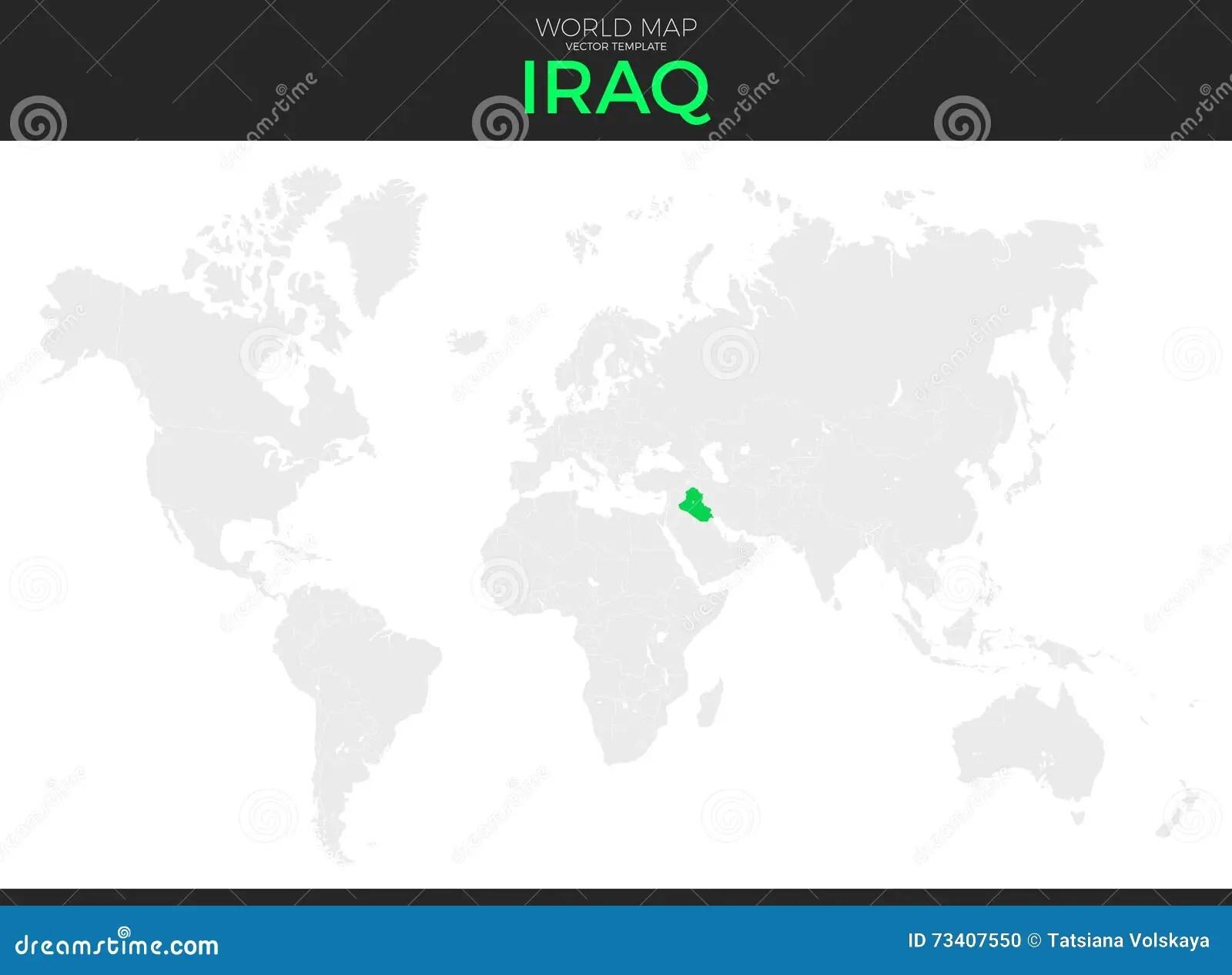 Republic Of Iraq Location Map Stock Vector