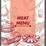 Restaurant Menu Design Meat Food Vector Stock Vector Illustration Of Pepper Eating 120071276