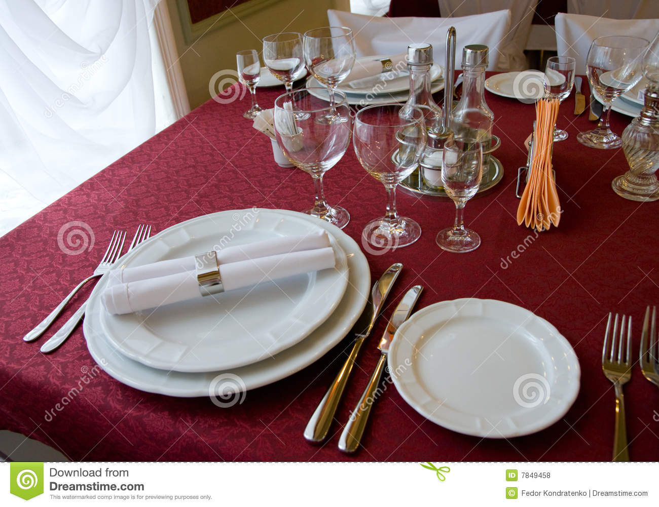 Restaurant Table Arrangement Royalty Free Stock Photos