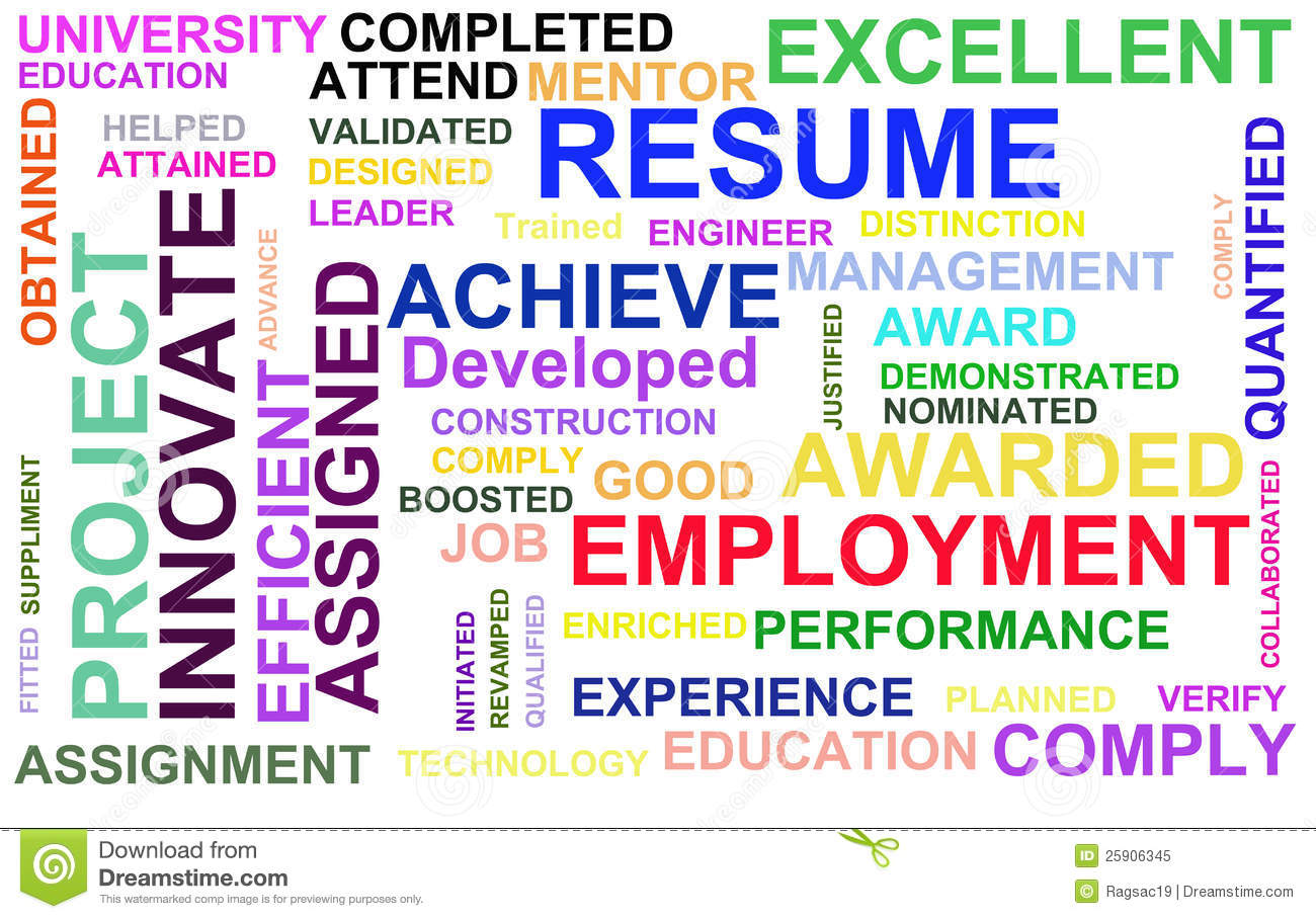resume powerful words royalty free stock photo image 25906345