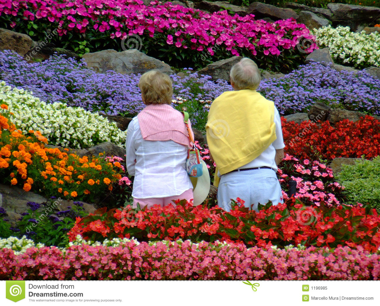 Retired In The Garden Stock Image Image Of Praise