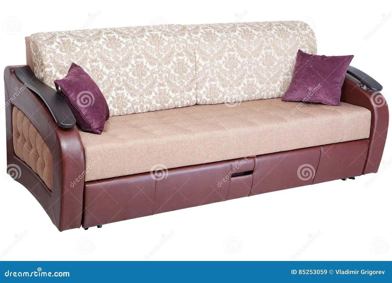 le divan convertible de canape lit de dormeur avec l espace memoire d isolement sur le fond blanc a enregistre la selection de chemin