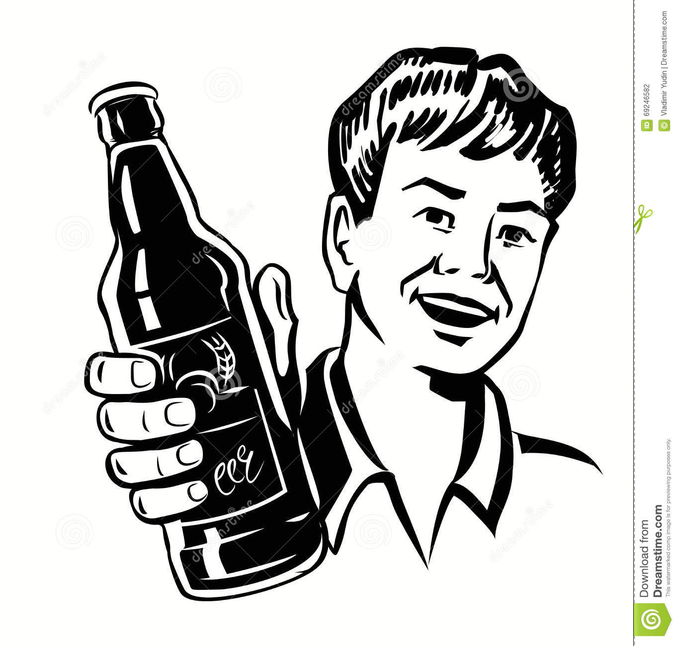 Retro Beer Guy Stock Vector Illustration Of Alcohol