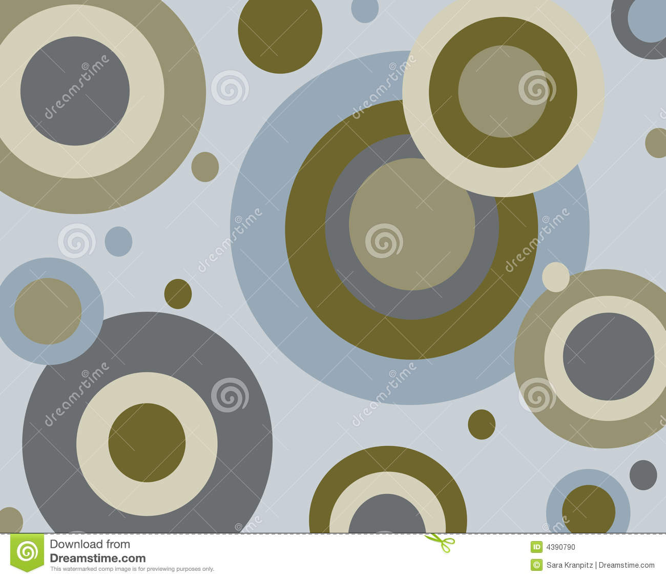 Retro Blue And Brown Circles Background Stock Illustration