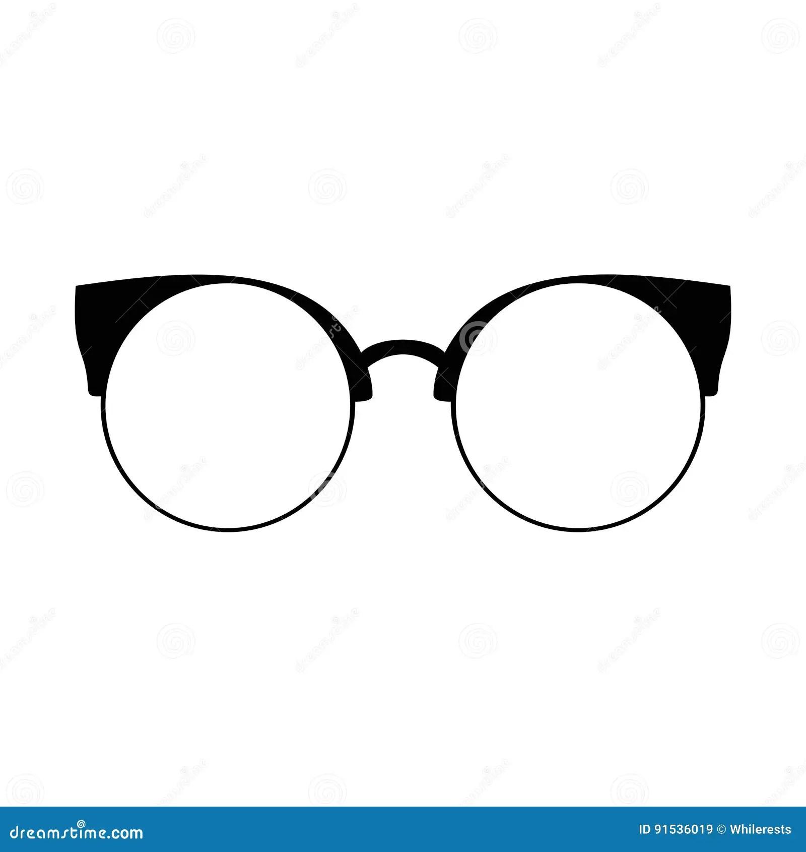 Retro Glasses Sunglasses Black Silhouettes Eye Glasses