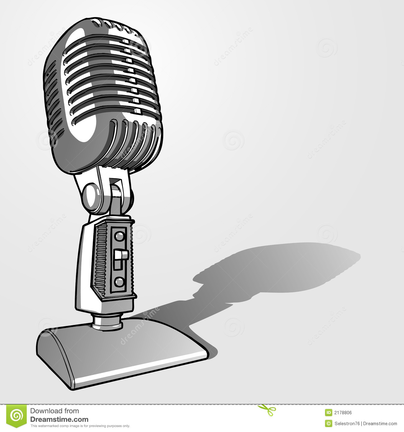 Retro Microphone Royalty Free Stock Image Image 2178806