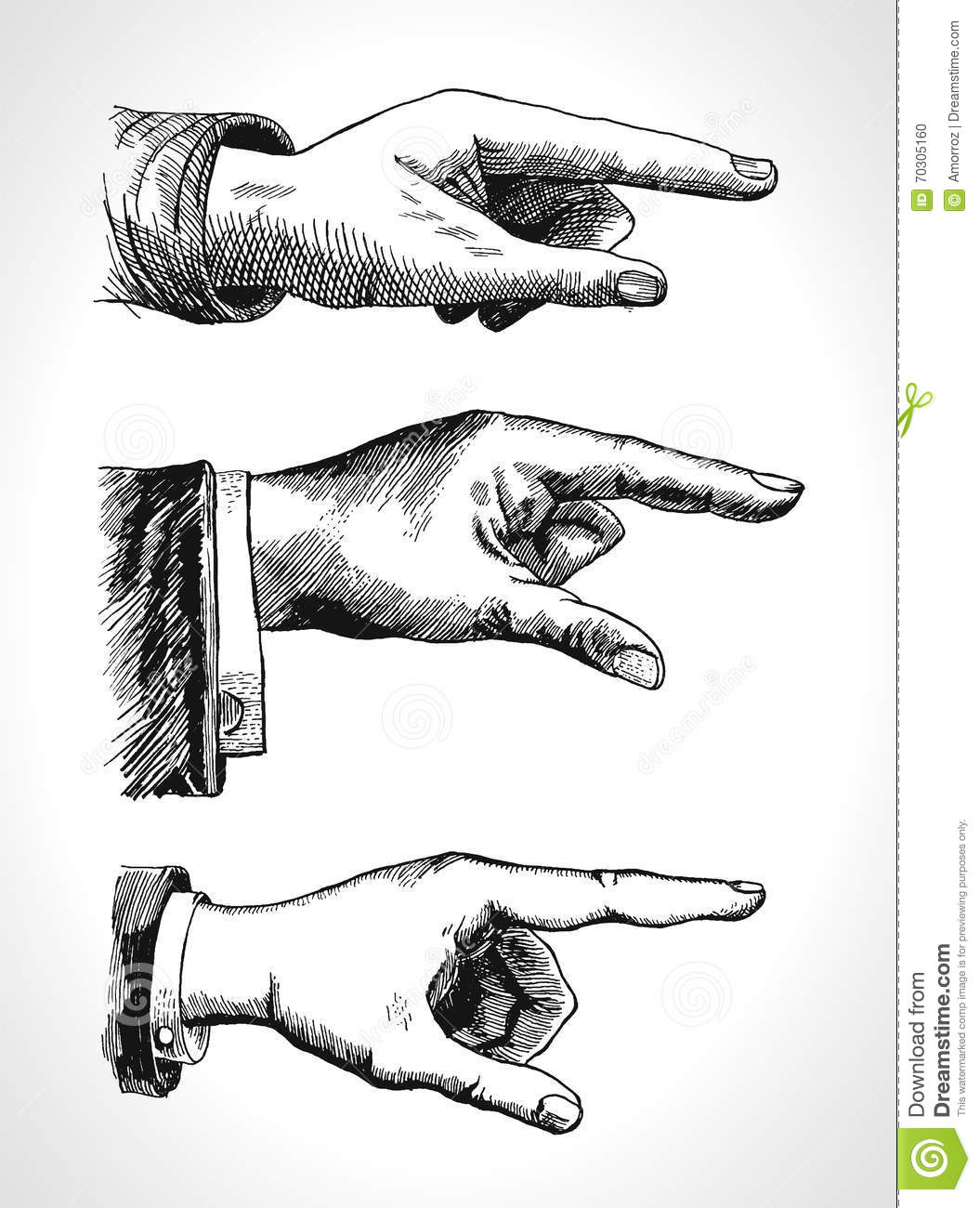 Retro Pointing Vintage And Direction Finger Pointing And
