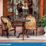 Retro Romantic Restaurant Cafe In A Small Town Outdoor Trattoria Old Fashioned Cafe Terrace Outdoor Cafe Stock Image Image Of Architecture Interior 167914173