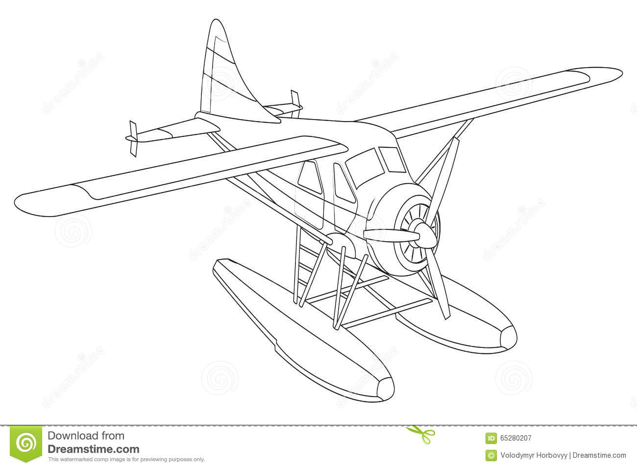 Retro Seaplane Illustration Stock Vector