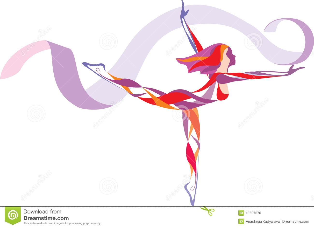 Rhythmic Gymnastics Stock Photo