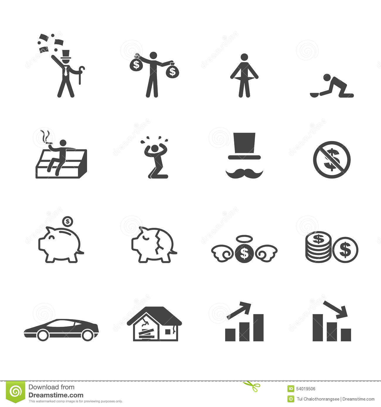 Rich And Poor Icons Stock Vector Image Of Pictogram